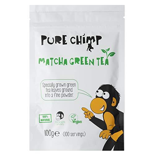 Matcha Green Tea Powder 100g by PureChimp | Ceremonial Grade From Japan | Pesticide-Free