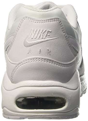 Nike Herren Air Max Command Leather Sneakers Weiß (white/white/metallic Silver)