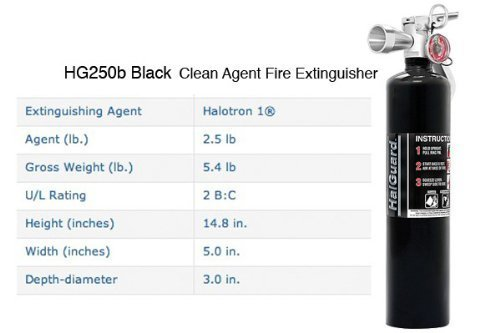 h3r-performance-hg250b-h3r-performance-25-lb-halguard-black-clean-agent-fire-extinguisher-by-h3r-per