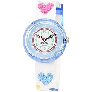 FlikFlak Mädchen Analog Quarz Uhr mit Stoff Armband FBNP116