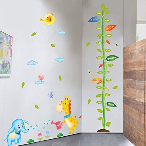 Pflanzung Baumhöhe Aufkleber Aufkleber Elephant Giraffe Kind Aufkleber abnehmbare Wand Aufkleber -