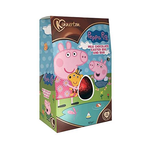 Peppa pig uovo di pasqua fatto di cioccolato - set regalo (62g)