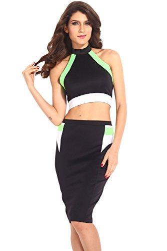 Dissa® femme Noir SY6249 robe de cocktail Noir