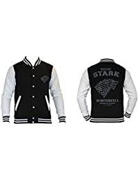 Game of Thrones - House Stark Homme College Jacket / Veste - Noir