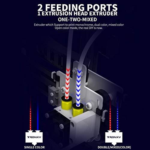 New Tronxy 3D Printer X5S-2E farbern Double Feeding port 3d drucker with hotbed - 6