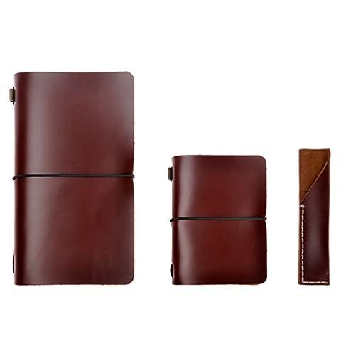 Agenda / carnet de notes en cuir – rechargeable, classique