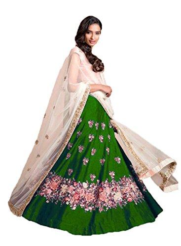 Muta Fashions Banglori Silk Green Women Lehenga ( LEHENGA166_Green )