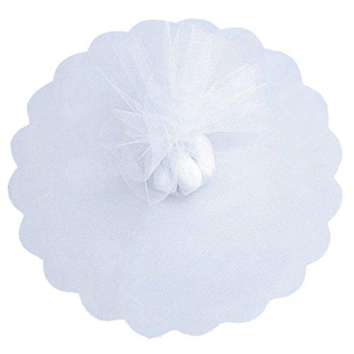 100 PZ Fai da Te Veli per Confetti Bianco, Veli Tulle Organza, Veli Bomboniere, Veli portaconfetti per Matrimonio Nozze Sposalizio Baby Shower Party