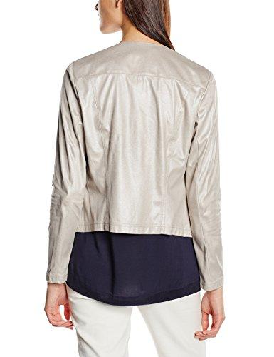 TAIFUN Damen Blazer Tropical Breeze Grau (Greige 90336)