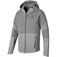 Puma Evostripe Move Hooded Jacket Sudadera, Hombre, Gris (Medium Gray Heather), L