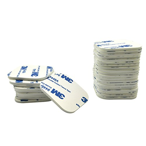 WOSKY 30 Pcs Double Sided White Foam Tape Strong Pad Mounting Adhesive (Square, White) Tape Lcd