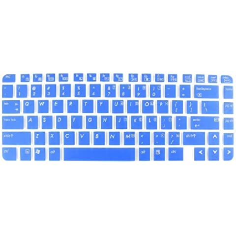 Water & Wood Blue Laptop Keyboard Protector Film for HP