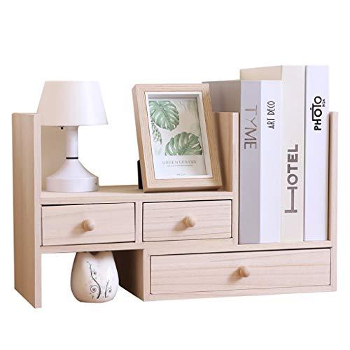 Bxwjg Caja de Almacenamiento de combinación de Escritorio, Organizador de Escritorio de Madera con cajones Organizador de Escritorio de Vintage Home Desk Organizador de Documentos
