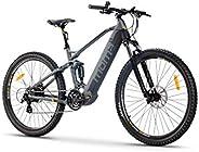 Moma Bikes Bicicleta de Montaña, Suspensión Bateria integrada