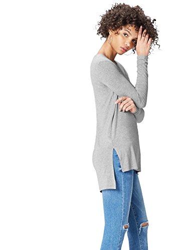 Find 18136 magliette donna, grigio (grey), 40 (taglia produttore: x-small)