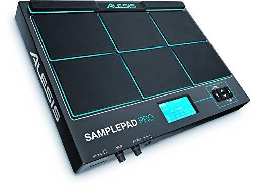 Alesis SamplePad Pro - Percussion- und Sample-Triggering-Instrument mit 8 reaktionsschnellen gummierten 2-Zonen-Pads, LED-Beleuchtung, Erweiterungsmöglichkeiten und über 200 integrierten Sounds (Alesis E-drum)
