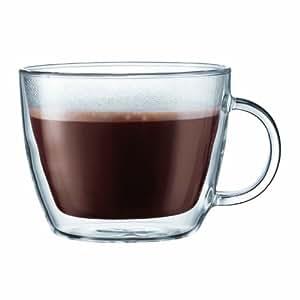 Bodum 10608-10 Bistro Set 2 Tasses à Café Latte Double Paroi avec Anse 45 cl