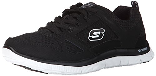 Skechers Flex Appeal Adattabile Damen Sneakers Schwarz (bkw)