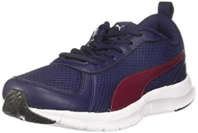 Puma Men's Flexracer 19 Idp Peacoat-Pomegranate Navy Blue Sneaker-6 UK (39 EU) (7 US) (37100001)