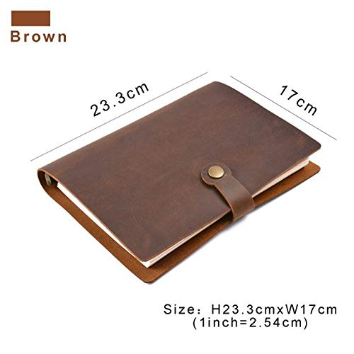 Top Fashion Ring Notebook A5 Planer Mit Messingbinder Spirale Skizze Single Button Persönliches Tagebuch Briefpapier Rot (Top-spirale Gebunden Notebook)
