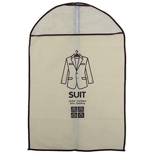 DealMux Haushalts-Kleid-Klage-Kleid Äußere Kleidung Jacke Abdeckung Aufbewahrungstasche 87 x 58cm Beige (Prendas De Vestir)