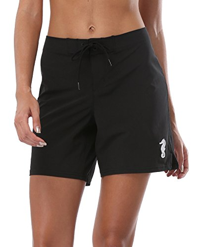 2375cbe7c6 Alove Women's Mid Board Shorts Summer Beachwear Swimming Trunks with ...