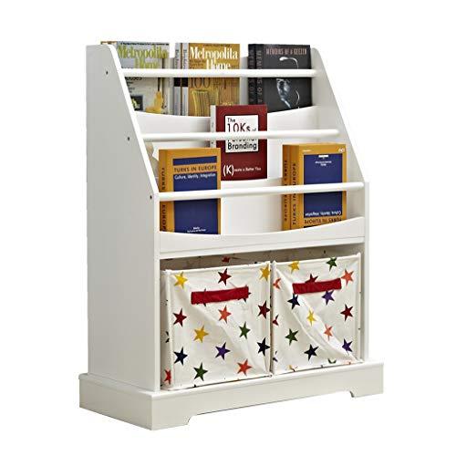 Kinder-Bilderbuch Bücherregal Toy Storage Cabinet Floor Display Bücherregal Storage Cabinet Finishing (Color : White, Size : 73 * 33 * 90CM) -