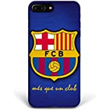For iPhone 7 plus + iPhone 8 plus + Phone Back Case Hard Cover Custom Personalised Trendy Style Christmas Gift Present Modern Design Protective Plastic UK Brand Appfix FC Barcelona Football Club