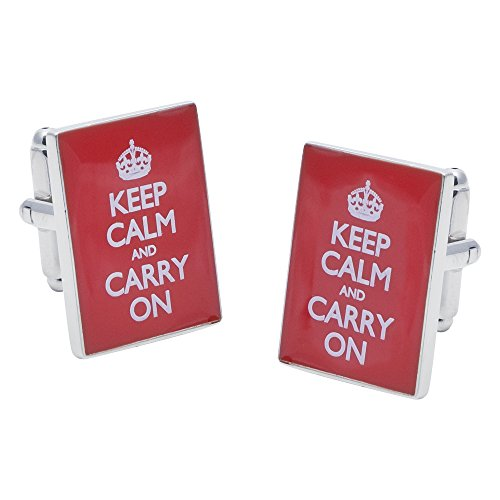 Keep Calm and Carry On Boutons de manchette