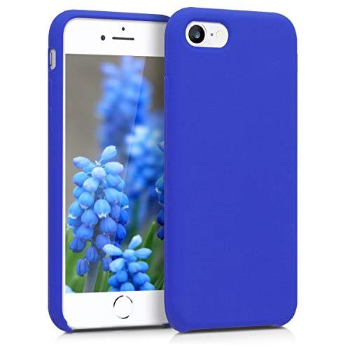 kwmobile Coque Apple iPhone 7/8 - Coque pour Apple iPhone 7/8 - Housse de téléphone en Silicone Bleu Roi