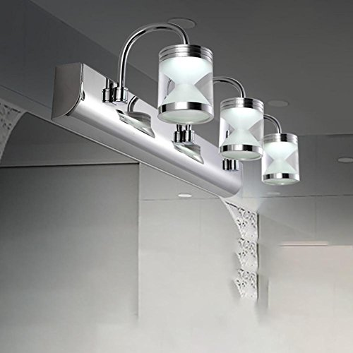 Schwanenhals-scheinwerfer (Wandleuchte LED Spiegel Scheinwerfer Drei Moderne Spiegel Schrank Licht Edelstahl Badezimmer Badezimmer Lampe Make-up Lampe)