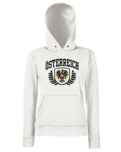 T-Shirtshock - Sweats a capuche Femme TSTEM0074 osterreich Blanc