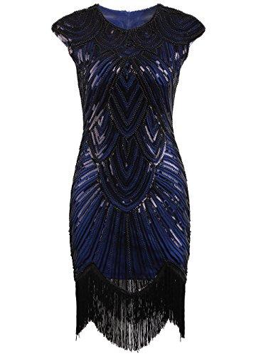 Vikoros Damen Cocktail Kleid, Paisley Gr. 34, (Size Silver Kleider Plus)