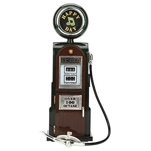 Bewinner Retro US Zapfsäule für Benzinpumpenform mechanische Spieldose - eine attraktive Dekoration - der untere Teil ist eine Aufbewahrungsbox - EIN tolles Geschenk für Ihre Freunde Familie