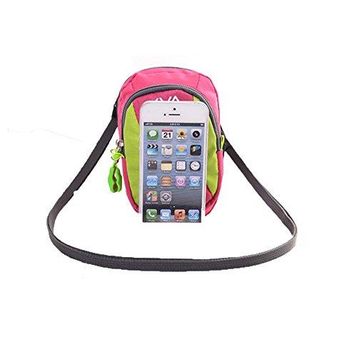 Wewod Sports Fascia da braccio/corsa fitness Fascia da braccio/Mini borsa a tracolla per iPhone 6(4,7)/6S adatto per movimento, ginnastica, Jogging, Ciclismo, Escursionismo, Uomo Donna Bambini, Rosa Blau
