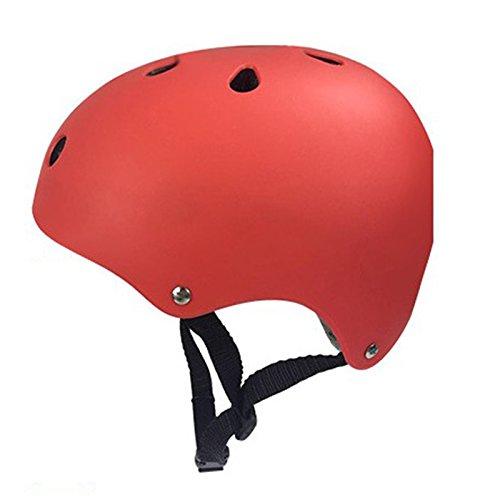 Eleganantstunning 2 Größen Erwachsene Kinder BMX Fahrrad Skate Multisport Helm Fahrrad Crashhelme, Red M