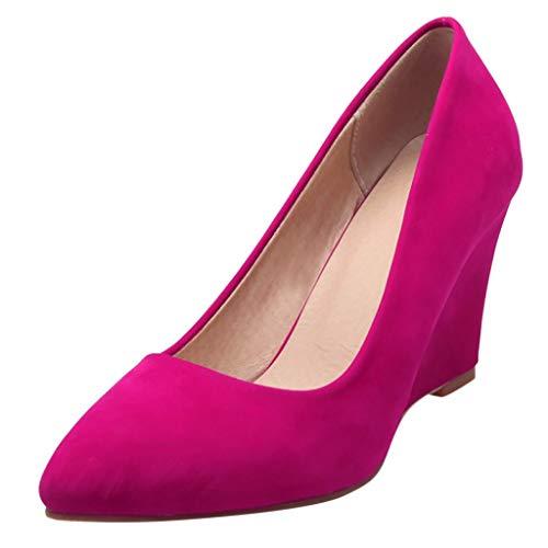 Engel Hobo Bag (LILIGOD Frauen Business Anzug Schuhe Lässig Bequeme Pumps Schuh Keile Einzelne Schuhe Damen Mode Keilabsatz High Heels Bequem Wild Arbeitsschuhe Flacher Mund Gefrostet Damenschuhe)