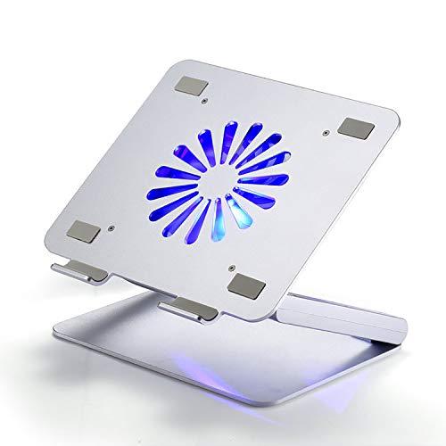 Laptop Kühler 12-17 Zoll 1 Lüfter mit blau LEDs 4 USB-Ports Cooling Pad Notebook Cooler Ständer Kühlpad Kühlmatte schwarz,Upgrade