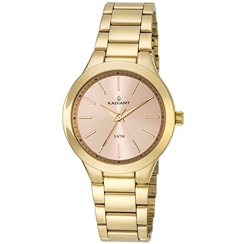 Radiant. Mrs. Armys Steel Gold Tone Dial Rose.