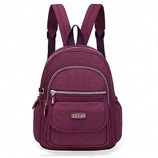 26d8e7d5dd51a AOTIAN Mini Rucksack Für Mädchen Und Damen Leichtgewicht Kleine Lässiger  Daypacks Tasche 7 Liter Violett