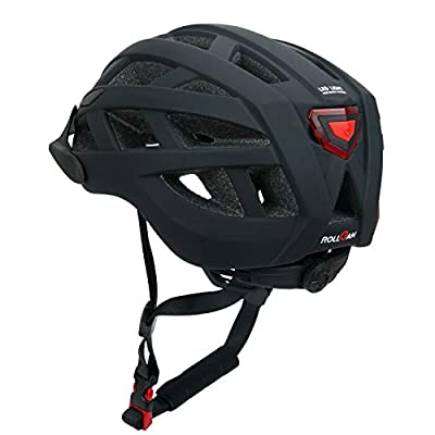 ROLLGAN Lightweight Bicycle Helmet with Wireless Rechargeable Safety Led Back LED Light for Men Women,CPSC Certified Cycling Helmet Adjustable for Adult by ROLLGAN FACTROY