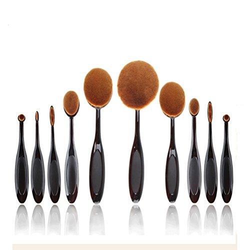Gespout Pinceau de maquillage 10pcs Taille différente Maquillage Brushes Brosse Sets Maquillage pour Fond de Teint Cosmétiques à Pinceau Correcteur Fond de Teint