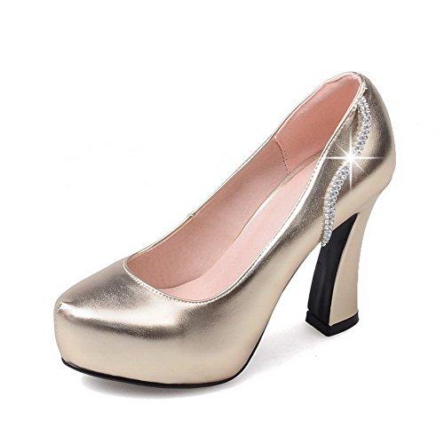 Damen Hoher Absatz Rein Ziehen auf Blend-Materialien Spitz Zehe Pumps Schuhe, Lila, 37 VogueZone009