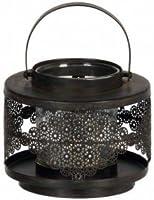 Lanterne industriel en fer et verre d10.5h13cm noir Coté Table