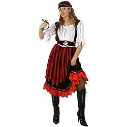 Disfraz de pirata para mujer, marrón, M-L.