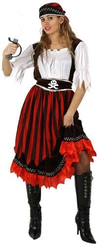 ATOSA 95549weiblich Erwachsene gestreifte Pirat Kostüm, Größe UK 6