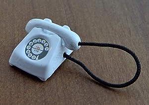 Casa de muñecas en Miniatura para Oficina, Sala de Estar, Dormitorio, Accesorio para teléfono móvil, Color Blanco