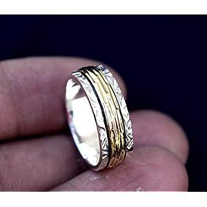 Meditationsringe, Spinnerringe, Silberringe für Frauen, Beautiful Designer Spinning Ring for Women, Anxiety Ring for…