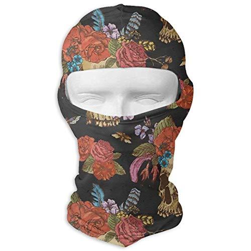 Jxrodekz Sugar Skull Rose Flowers Motorcyle Gesichtsmaske Multifunktionssport Magie Headwear (Skull Sugar Braut)