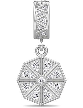 White Infinity Drop Silver 1395